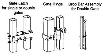 steel gate hardware